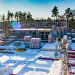 Baustelle im Schnee, 08.01.2021